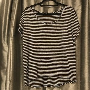 Tops - Navy and Gray Maurices Striped T-shirt